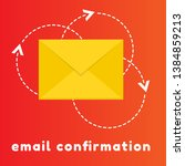 concept of email confirmation.... | Shutterstock .eps vector #1384859213