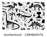 collection of dinosaur...   Shutterstock .eps vector #1384860476
