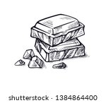 pieces of black and white... | Shutterstock .eps vector #1384864400