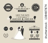 set of wedding typography | Shutterstock . vector #138487874