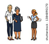 different business people... | Shutterstock .eps vector #1384890170
