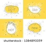 quick tips badge with speech... | Shutterstock . vector #1384893359