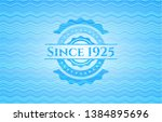 since 1925 water representation ... | Shutterstock .eps vector #1384895696