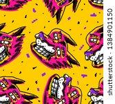 dirty art seamless pattern. fox ...   Shutterstock .eps vector #1384901150