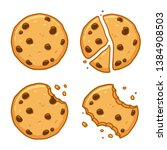 traditional chocolate chip... | Shutterstock .eps vector #1384908503
