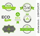 set of labels and stickers for...   Shutterstock .eps vector #1384926929