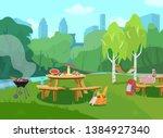 vector illustration of park... | Shutterstock .eps vector #1384927340