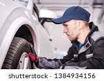auto service job. automotive... | Shutterstock . vector #1384934156
