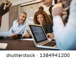 diverse group of businesspeople ... | Shutterstock . vector #1384941200