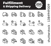 fulfillment and shipping... | Shutterstock .eps vector #1384949309