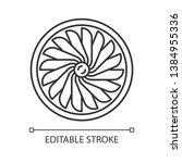 plane turbine linear icon.... | Shutterstock .eps vector #1384955336