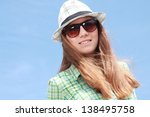 summer urban fashion. beautiful ... | Shutterstock . vector #138495758