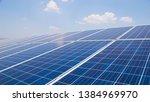 Landscape Of Solar Cell Farm...