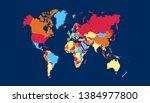 color world map vector modern | Shutterstock .eps vector #1384977800