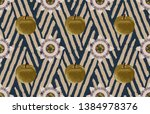vintage beautiful and trendy... | Shutterstock . vector #1384978376