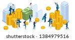 isometric set of businessmen ...   Shutterstock .eps vector #1384979516