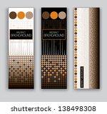 vector banners. set of three.... | Shutterstock .eps vector #138498308