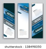 vector banners. set of three.... | Shutterstock .eps vector #138498350