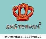 amsterdam queen day card  | Shutterstock .eps vector #138498623