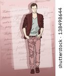 fashion man on background | Shutterstock .eps vector #138498644