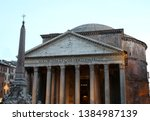 ancient temple called pantheon...   Shutterstock . vector #1384987139