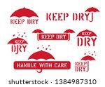 keep dry  handle with care ...   Shutterstock .eps vector #1384987310