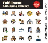 fulfillment and shipping... | Shutterstock .eps vector #1384987490