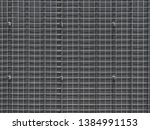 Full Frame Background of Metal Square Wire Mesh
