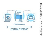 crm roadmap concept icon.... | Shutterstock .eps vector #1384996733