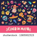 vector illustration with design ... | Shutterstock .eps vector #1385002523