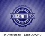 you are the boss badge with... | Shutterstock .eps vector #1385009240