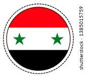 syria flag sticker on white...   Shutterstock .eps vector #1385015759