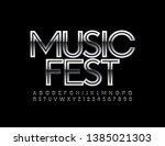 vector metallic poster music... | Shutterstock .eps vector #1385021303