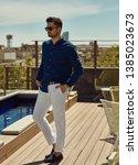 portrait of handsome man in... | Shutterstock . vector #1385023673