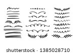 hand drawn dividers set.... | Shutterstock .eps vector #1385028710