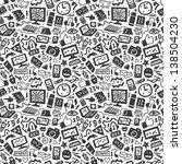technology seamless pattern | Shutterstock .eps vector #138504230