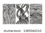 hand drawn wavy linear textures ... | Shutterstock .eps vector #1385060210