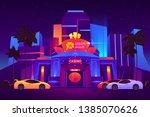 modern resort metropolis luxury ... | Shutterstock .eps vector #1385070626