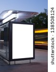 blank billboard on bus stop at... | Shutterstock . vector #138508124