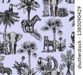 seamless pattern with graphic... | Shutterstock .eps vector #1385090429