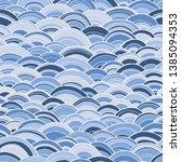 blue doodle seamless pattern... | Shutterstock .eps vector #1385094353