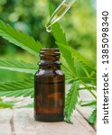 cannabis herb and leaves for... | Shutterstock . vector #1385098340