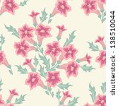 vector flower seamless pattern...   Shutterstock .eps vector #138510044