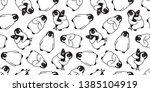 penguin seamless pattern vector ... | Shutterstock .eps vector #1385104919