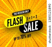 this weekend only flash sale... | Shutterstock .eps vector #1385121890