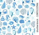 Seamless Pattern With Sea Shel...