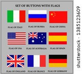 set of banners with flags.... | Shutterstock . vector #1385123609