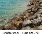 Sea Rocky Coast With Clear...