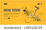 engine pistons service  repair... | Shutterstock . vector #1385126729