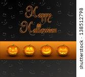 a halloween illustration  4... | Shutterstock . vector #138512798